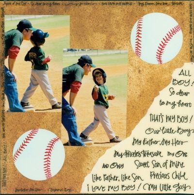 Image detail for -... Baseball - scrapbook layouts: Scrapbook Layouts and Scrapbooking Ideas
