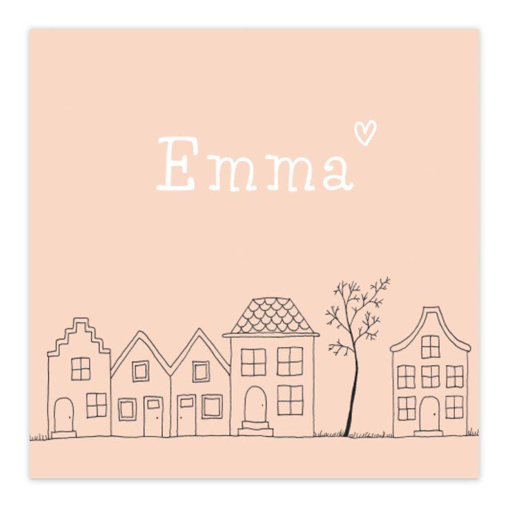 Een simpel, maar heel lief geboortekaartje voor een meisje. Dit kaartje is nieuw in de collectie. Wat vind jij ervan?