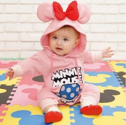 23d3b10eaf28 Autumn   Winter Baby rompers Fleece warm thick baby clothes Cartoon ...