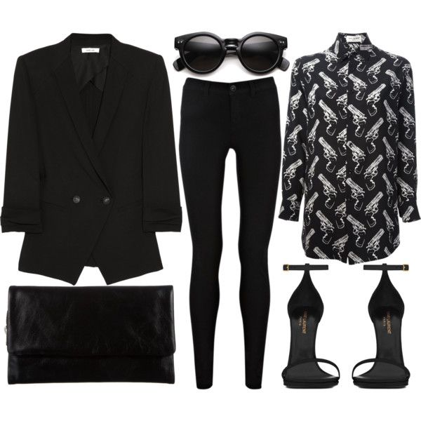 A fashion look from September 2014 featuring Yves Saint Laurent tops, Helmut Lang blazers and Oasis jeans. Browse and shop related looks.