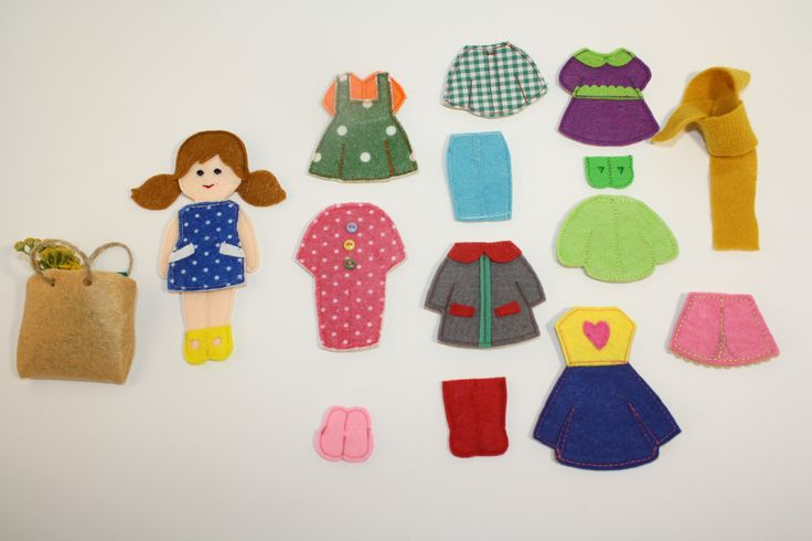 Felt Paper non paper doll felt doll outfits  felt paper doll Custom  Felt Paper Doll  felt doll dress up doll Toy Play Clothes Set 16 Felt Toy Game for Girl Custom Dress felt Doll Felt Flat Clothes Non paper dolls Clothes doll dress If you remember the time when girls played paper dolls, then you can compare with what I'm doing now from felt.