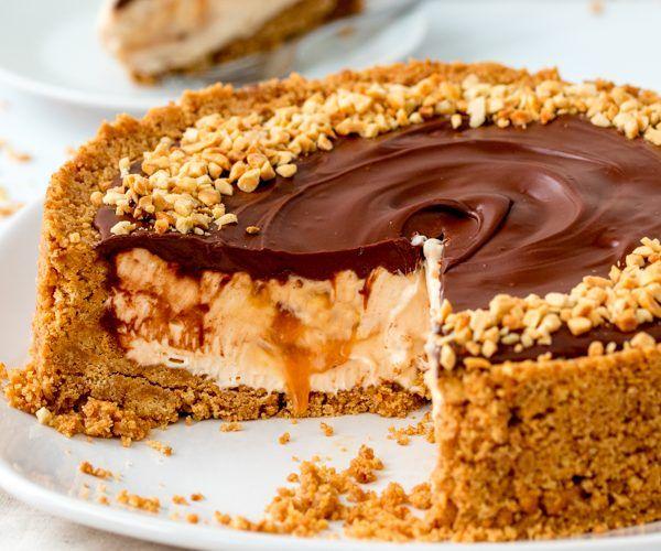 Λαχταριστό+cheesecake+με+nutella+κι+αλατισμένη+καραμέλα