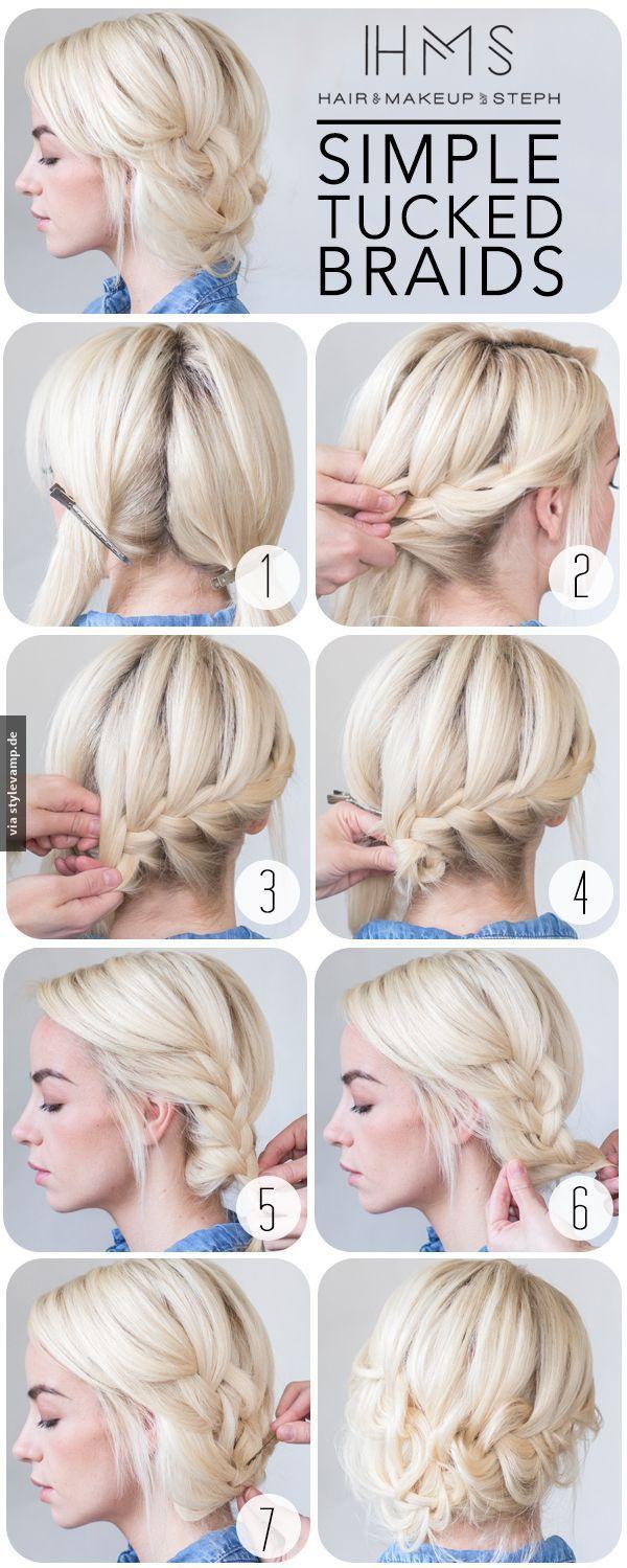 simple tucked braids