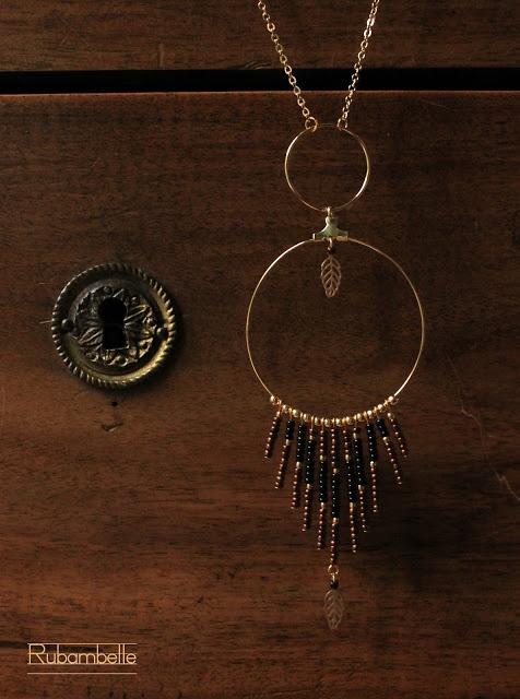 Sautoir Boheme Chic Noir & Bronze