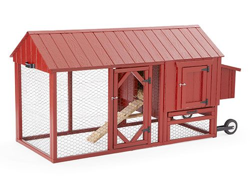 I love the idea of a rolling coop. This one is $341.00 from cottagekits.com