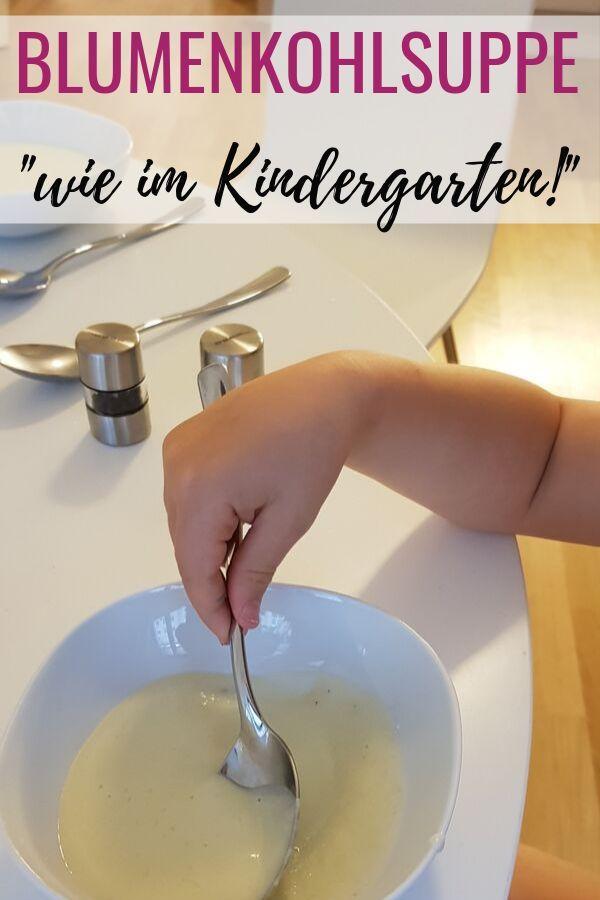 Cremige Blumenkohlsuppe wie im Kindergarten – das schmeckt meinen Kindern sogar! …   – Zuckerfrei, gesund & fit