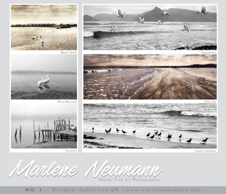 My UK Designer Boards No.3... Great ideas to create themes for your home or office space. THE SEA BOARD...A very special collection of my images. Please Share with friends you know are wanting Images on their walls...What you hang on your walls matters...make sure you have visuals that Inspire you and feed your spirit throughout the day. Visit my website www.marleneneumann.com ...Love Marlene