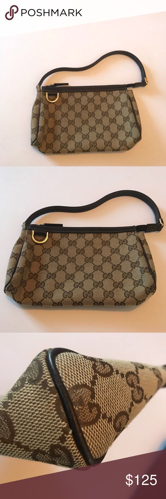 AUTHENTIC GUCCI small clutch In great condition. Pretty much perfect! Great as a clutch or a small bag inside of a big bag. Comes with original dust bag. Gucci Bags Clutches & Wristlets