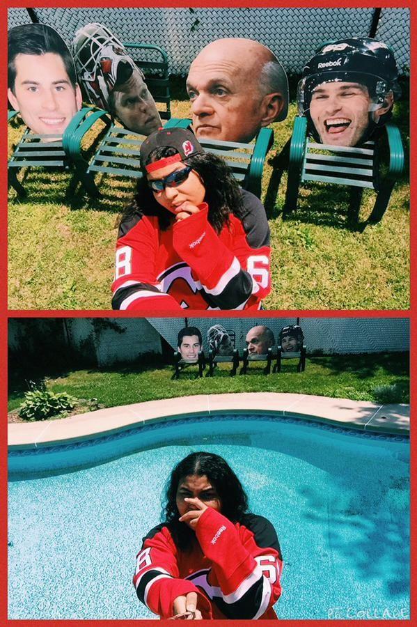 @SarahEastcoast (Twitter) #StayCoolThisSummer Contest Finalist! #Devils #Hockey #Sunglasses #Lamoriello