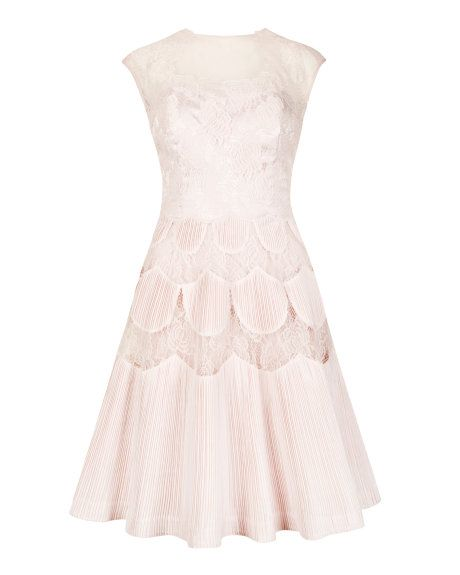 Lace dress - Nude Pink   Dresses for Proms   Ted Baker