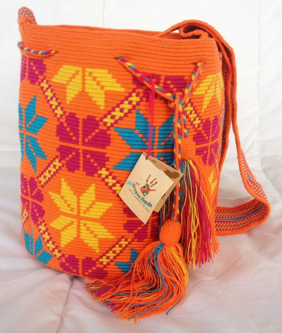 Sacs de mochila de tribu wayuu fait main par wayuuhandscolombia