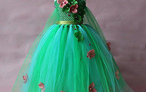 Petites Filles Fille Snow Princess Fleur sans manches Costume robe, Cosplay Halloween fête d'anniversaire Robe Déguisement: Parfait pour…