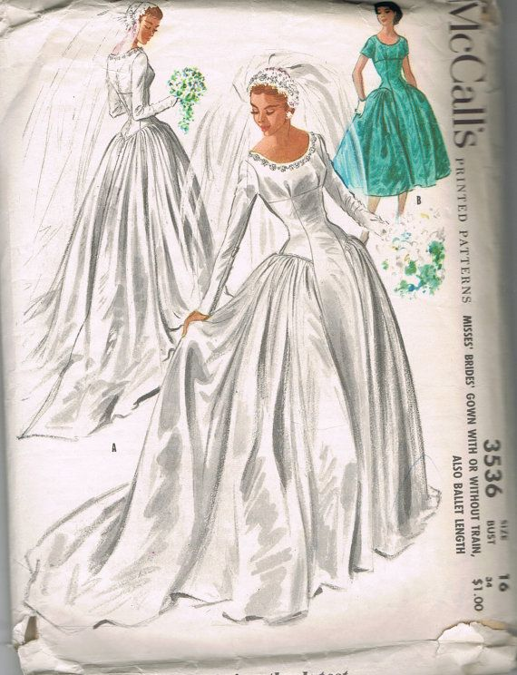 1955 Vintage McCall's Sewing Pattern 3536 by BusyBeaverBoutique, $60.00