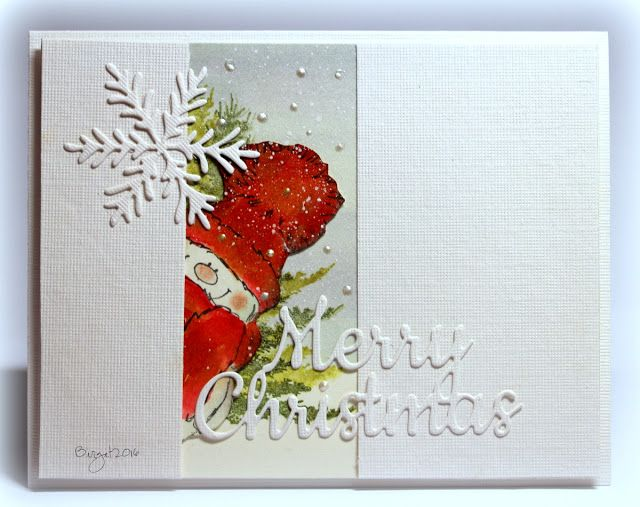 Here´s my card for the sketch at CAS Colours & Sketches blog  this week!     I used stamps and dies from Penny Black.   Snowy   Woodland B...