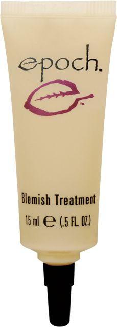 Blemish Treatment:  Epoch® Blemish Treatment combines proven pore-clearing acne medicine with Job's tears, used historically in Asia to reduce redness; yarrow, used for centuries to help soothe the skin; burdock, which helps clear up troubled complexions; and skin soothing chamomile extract. Click to buy today!