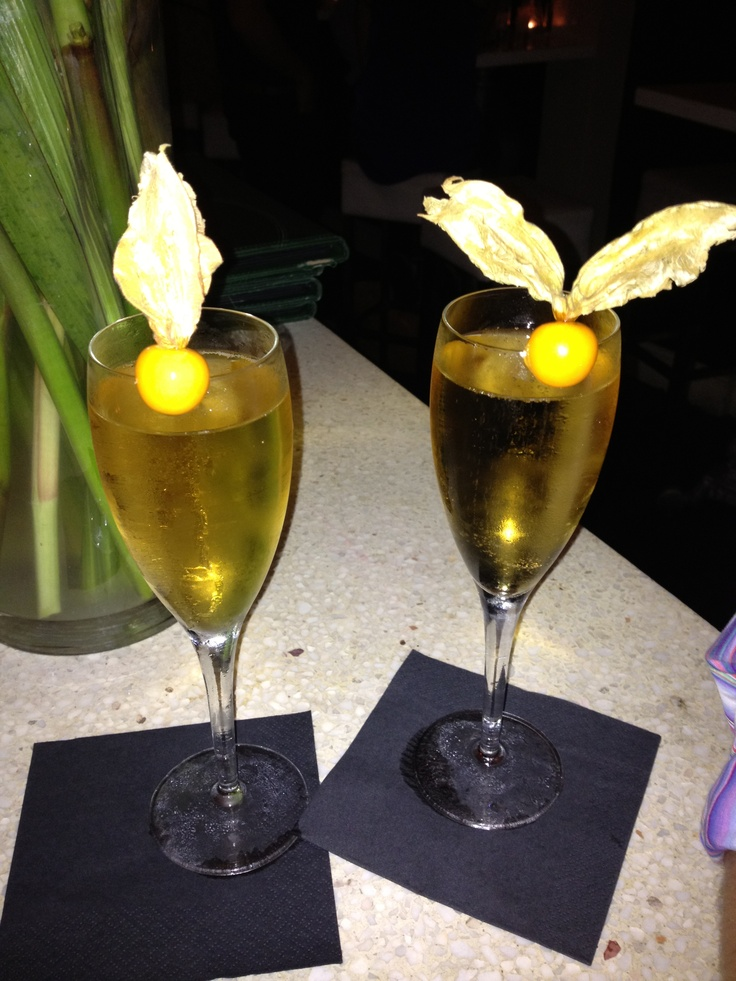 Champagne cocktails to celebrate our engagement