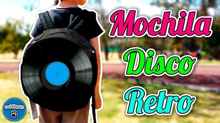 DIY   ¡Vamos a RECICLAR! Haz tu Propia Mochila Disco Retro   Reciclaje  ...