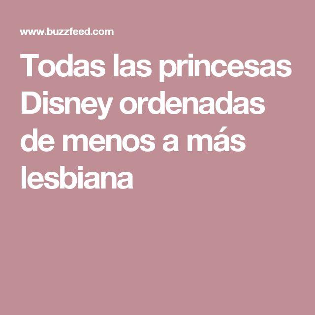 Todas las princesas Disney ordenadas de menos a más lesbiana