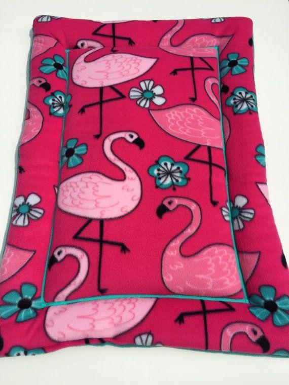 Pink Flamingo Dog Bed, Dog Crate Pad, Flamingo Decor, Dog Bed Large, Flamingo…