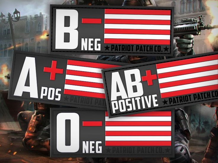 Blood Type - Morale Patches