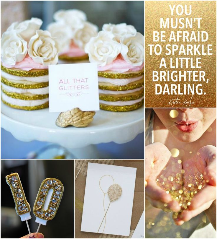 Sparkle & Shine Birthday Party - okay someone needs to start planning my 50th birthday with this sparkle & shine theme and gold glitter
