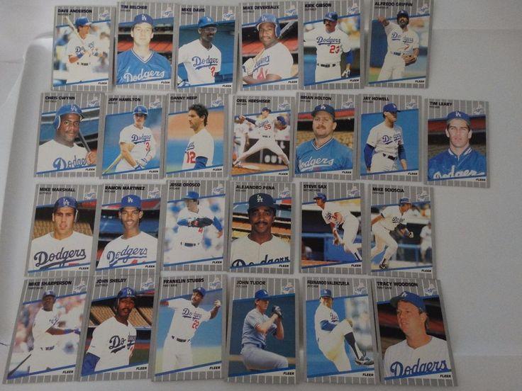 1989 Fleer Los Angeles Dodgers Team Set of 25 Baseball Cards #LosAngelesDodgers