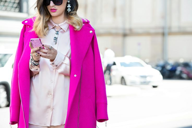 Eleonora Carisi, the fashion blogger from JouJouVilleroy with the Pink Swarovski iPhone Case.  http://www.2mestyle.com