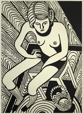 Linocut by Christoph Ruckhaberle