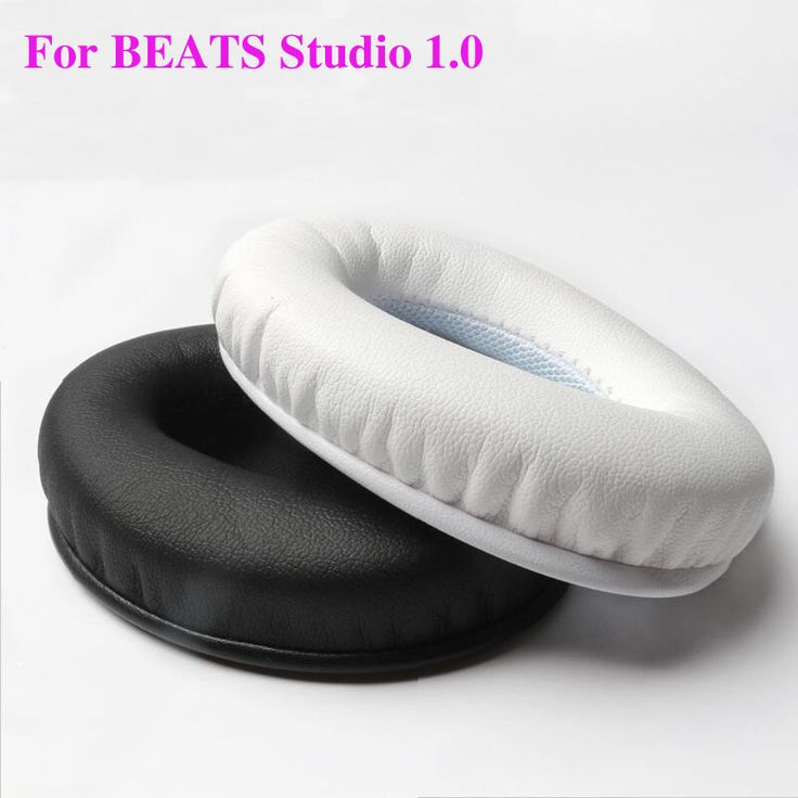 2pcs/pairs Studio 1.0 Leather Foam Headphone Sponge Ear pads buds cushion Earbud Headset Replacement Covers For Monster Beats #Affiliate