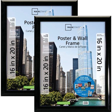 Free 2-day shipping on qualified orders over $35. Buy Mainstays 16x20 Trendsetter Poster & Picture Frame, Black, Setof 2 at Walmart.com