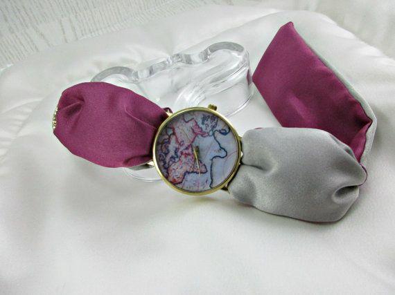 Watch for Women Unique Wrist Watch World di HARMONYHOURWATCHES