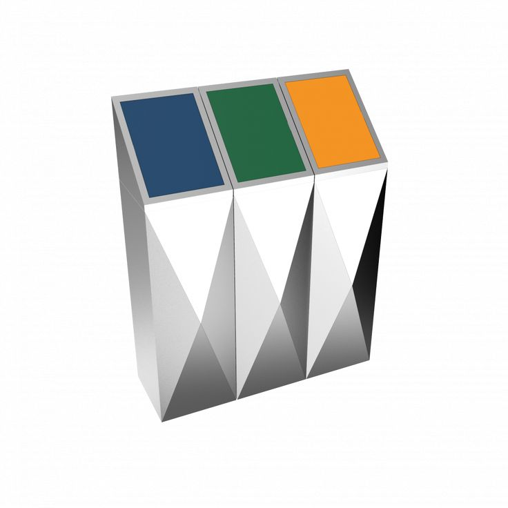 TODI SST - Modern design recycling bins made   of stainless steel
