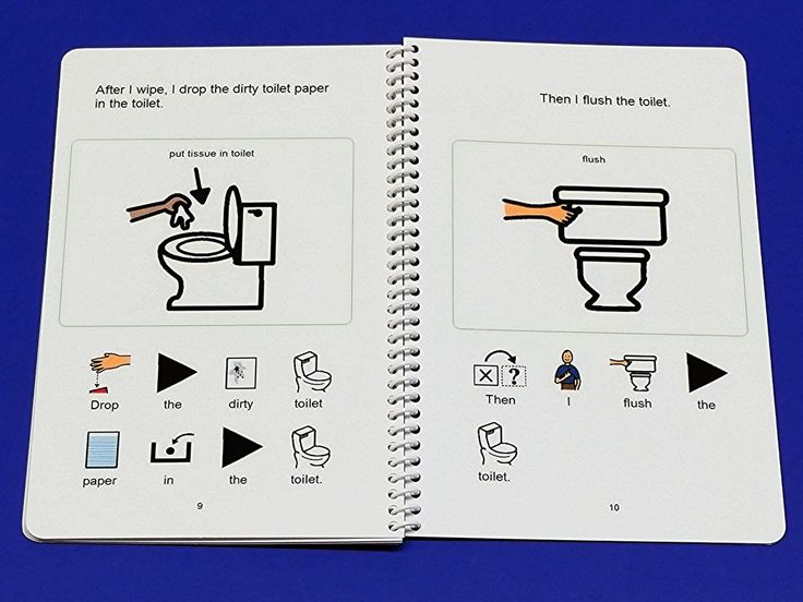 Potty Training Social Story and Potty Schedules for Boy or Girl Sitting on Toilet