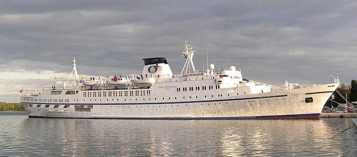 Arion. Διαχείριση: Portuscale Cruises. Σε υπηρεσία από το 1965 ~ 1991 Istria. 1991~ 1996 Astra. 1996 ~ 1999 Astra I. 1999 ~ 1999 Nautilus 2000. 1999 ~ 2013 Arion. 2013 ~ 2016 Porto. 1965. 5.588GT ~ 116,82 μ.μ. ~ 16,54 μ.πλάτος ~ 5 κατ/τα ~ 14,4knots ~ 300 επ. ~ 200 α.πλ.