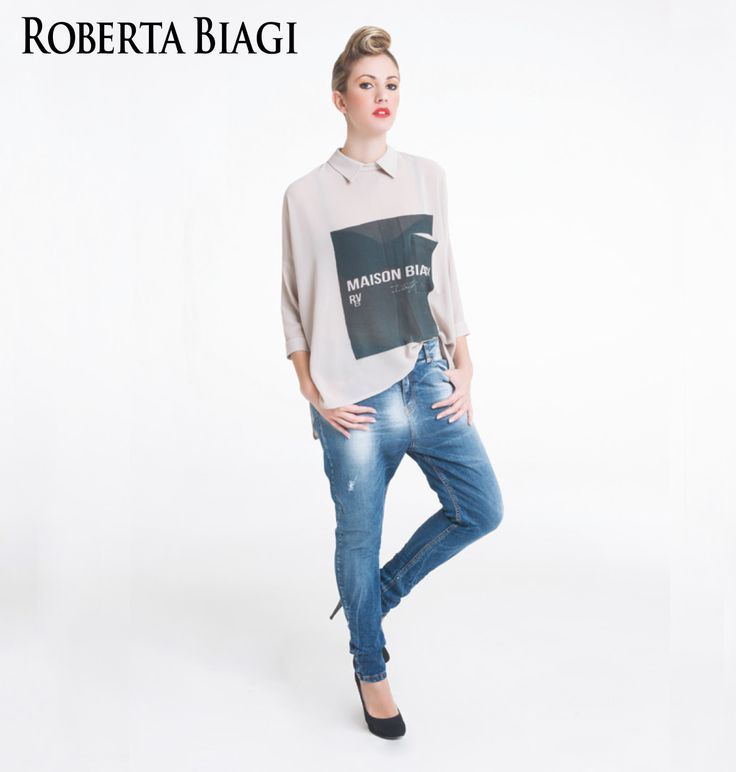 Spring Summer Outfit by Roberta Biagi New Collection Denim style