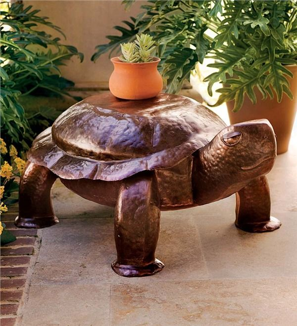 Main image for Turtle Side Table In Hand-Hammered Iron