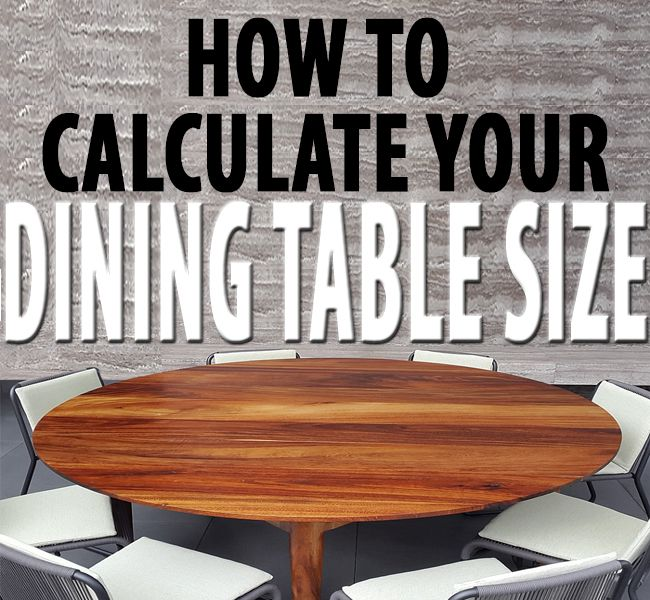 How To Calculate The Best Dining Table Size For Your Room Dining