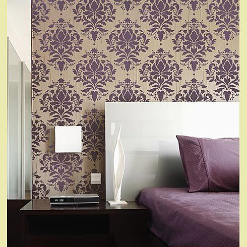 Wild Berry Damask Stencil - Damask never goes out of style. So a powder room or a huge walk-in closet can really benefit from this one.