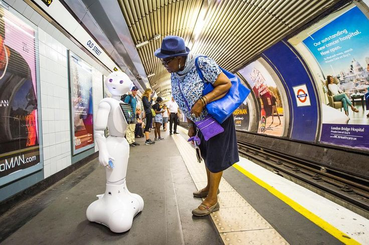 """176 Likes, 5 Comments - Evening Standard (@evening.standard) on Instagram: """"A robot travels on the London Underground before clocking on for its first shift on reception at a…"""""""