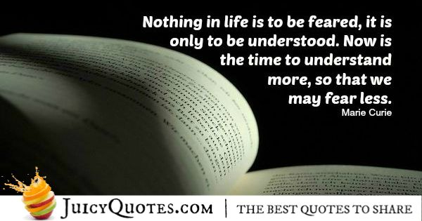 Quote About Life - Marie Curie