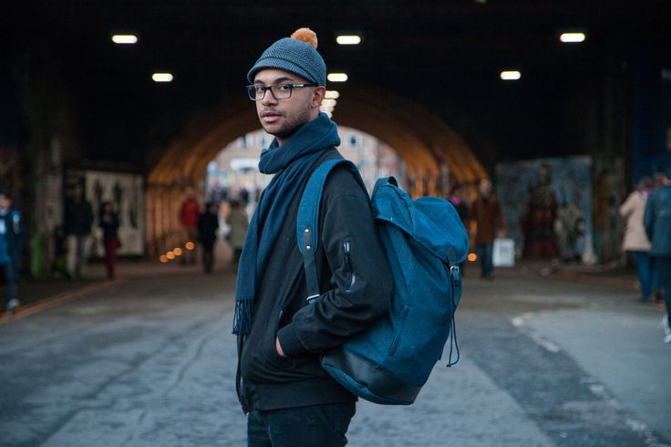 Asmat Hat & Waris 100% Recycled Denim backpack photographed by Jenni Salonen for Costo