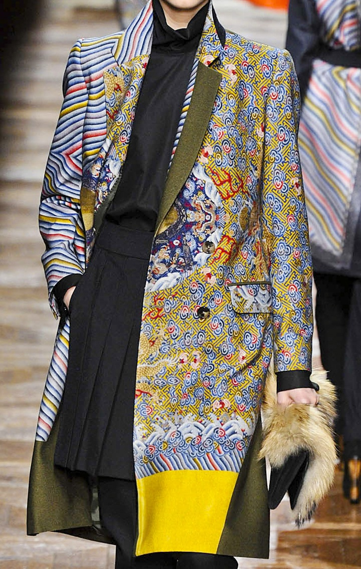 Korean motif - Dries van Noten Fall 2013