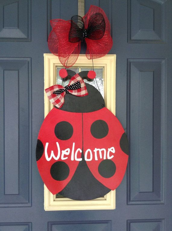 Ladybug Door Hanger Summer Door Hanger Teacher Door