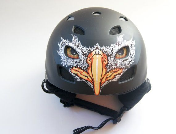Unique Custom Helmet With Eagle Design. Hand by atelierChloe