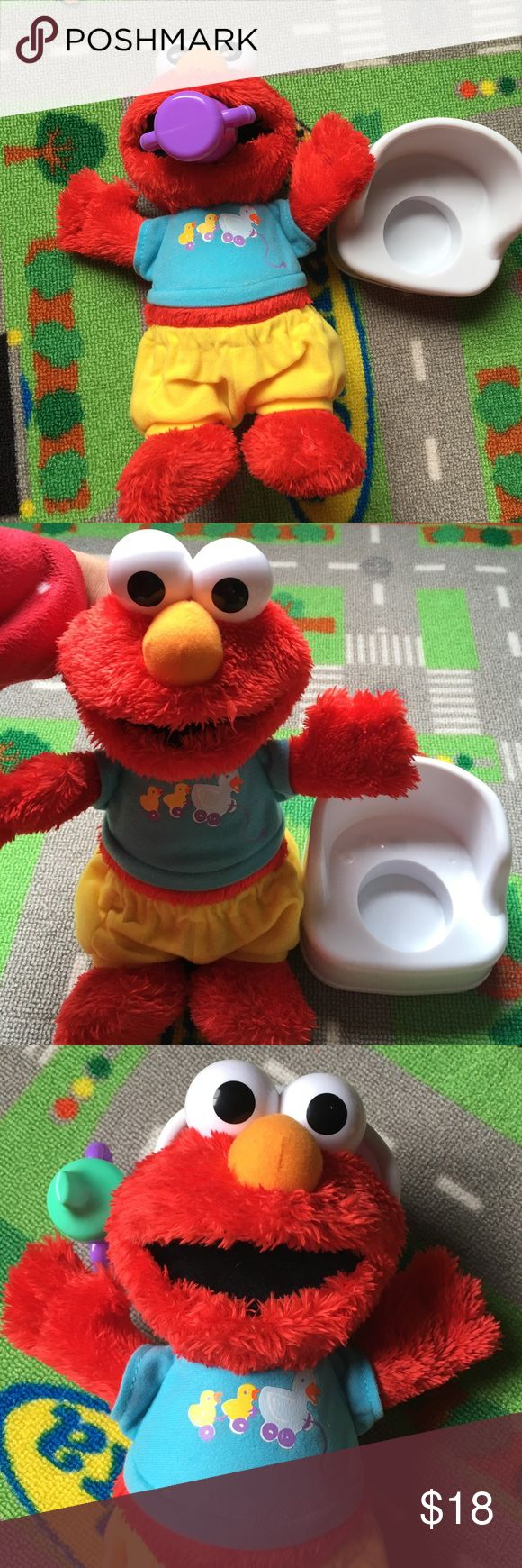 💕Elmo Potty time💕 Never used, been sitting in my son's closet.Features : Help Elmo go to the potty *Give Elmo a drink, lower his pants and sit him on the potty *When Elmo uses the potty in time, he sings a reward song to celebrate *When Elmo has an accident, he sings an accident song 💕 Sesame Street Other