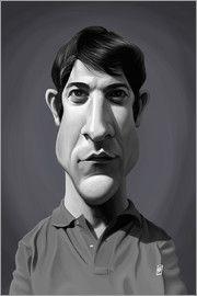 Rob Snow | caricatures - Dustin Hoffman art | decor | wall art | inspiration | caricatures | home decor | idea | humor | gifts