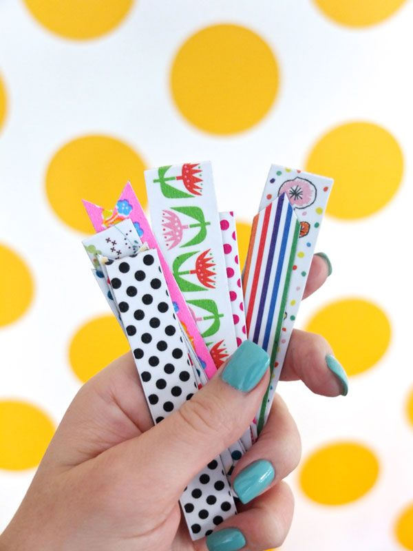 handful of washi tape magnets, see mypoppet.com.au for DIY instructions