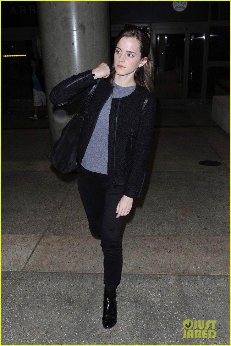Emma Watson Lands in Los Angeles After 'Noah' Trailer Debut
