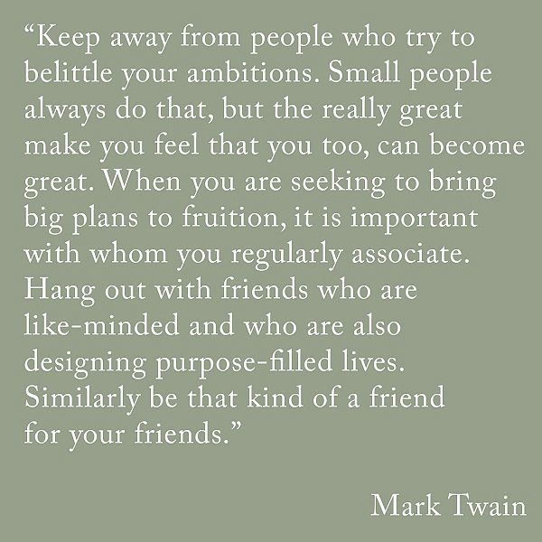 Mark Twain - ambition building