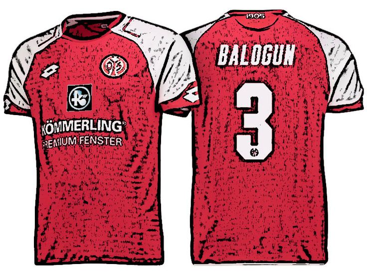 FSV Mainz 05 Kit Jersey For Cheap leon balogun 17-18 Home Shirt